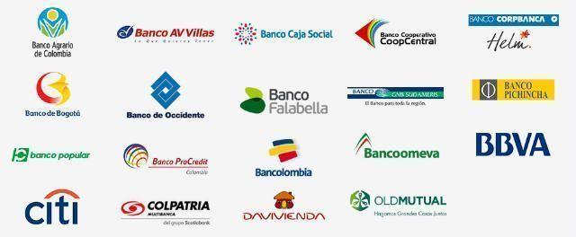 bancos colombia logos